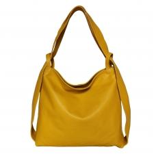 Odinė rankinė-kuprinė: Toscana Yellow